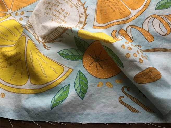 Ambrosia Bite tea towel detail