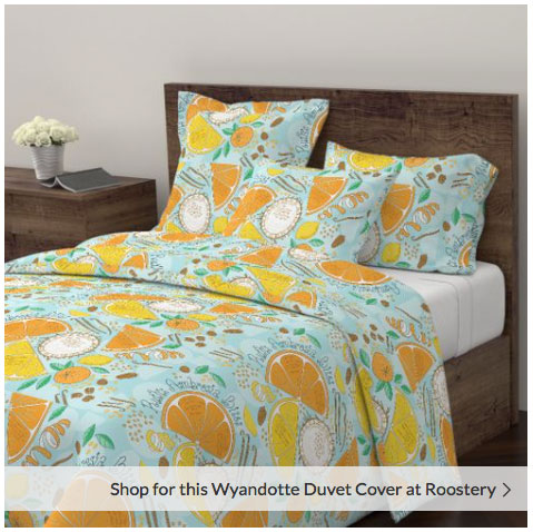 Ambrosia Bites duvet cover from Spoonflower
